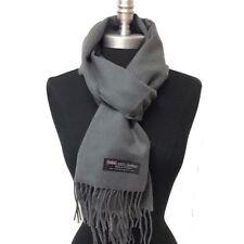 Echarpe homme femme laine cachemire d'Ecosse unie top qualité gris tourterelle