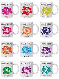 Personalised Zodiac mug/cup star sign Astrology Horoscope 11oz/6oz child/adult