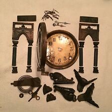 New ListingSessions Antique Mantle Clock Parts / Complete Set Of Outer Case Hardware