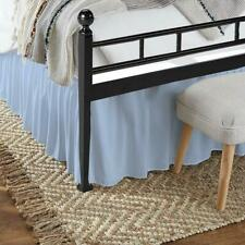 Bed Skirt Ruffle Split Corner 100% Egyptian Cotton Light blue Queen/King Size