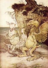 Alice In Wonderland - 8x10 print of 1907 Arthur Rackham  book plate - #11