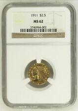 1911 GOLD  $2 1/2 GOLD INDIAN QUARTER EAGLE NGC MS62
