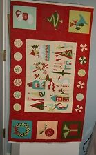 Moda Very Merry Christmas Fabric Panel by Sandy Gervais  17830-12