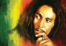 Bob Marley Rasta Colores A3 Poster Print YF067