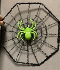 Halloween Light Up Cobweb With Spider 25cm Decoration Web Hanging Prop Party