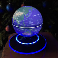 LED Light Magnetic Levitation Floating Globe Map Valentines Day Birthday Gifts