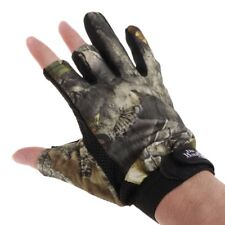 1Pair 3 Finger Cut Fishing Gloves Outdoor Sport Mitts Hunting Non-Slip Anti-slip