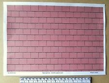 "Dolls house 1/12th scale ""Red roof tile"" paper - A4 sheet (297x210 mm)"