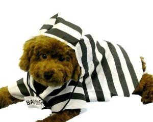 Prisoner Pet Halloween Costume Jail Bird Bad Dog & Cats One Size Fits Most New