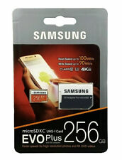 Samsung 256 GB Micro SD XC EVO Plus UHD U3 4K Class 10 Memory Card and Adapter