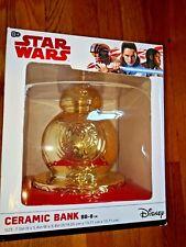"Star Wars Disney Ceramic Bank Gold color new in box 7.5 X 5.4 X 5.4"" New"