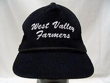 WEST VALLEY FARMERS - VINTAGE - ADJUSTABLE PLASTIC SLIDER BALL CAP HAT!