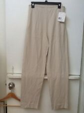 Womens S Liz Claiborne Beige Pull-on Yoga Athletic Exercise Stretch Pants Nwt