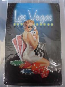 Las Vegas Tin Retro Metal Sign Painted Poster Wall Art Garage Playroom Shop Pub