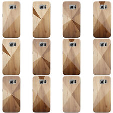 GEOMETRIC WOOD COLLECTION HARD CASE COVER FOR SAMSUNG GALAXY MOBILE PHONES