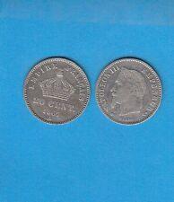 Gertbrolen 20 Centimes argent Napoléon III tête laurée 1867 Paris