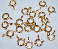 14K Gold-Filled 7mm Spring Ring Open-Ring Clasp w Jump Ring Jewelry Bead 20Pk