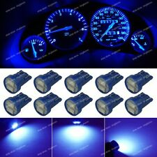 10-pc Deep Blue LED T10 168 Wedge Instrument Gauge Dashboard Light Bulb For Olds