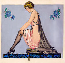 Coles Phillips Tiedosto 1922, Vintage Antique Style, HD Art Print or Canvas