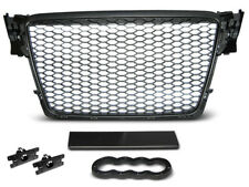 NEW FRONT GRILL GRAU01 AUDI A4 B8 2008 2009 2010 2011 BLACK RS-STYLE