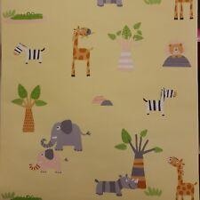 Wallpaper Children Kids Zoo Animals Giraffe Elephant Zebra Crocodile Bear Jungle