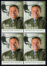 2012 Australian Legends Ron Barassi SG3697 Block of Four MUH Mint Stamps AFL