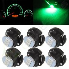6X T5/T4.7 Neo Wedge 3SMD LED Bulbs Panel A/C Climate Heater Control Light Green