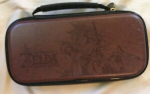 Nintendo Switch Lite Game Deluxe Travel Case The Legend of Zelda Vegan Leather