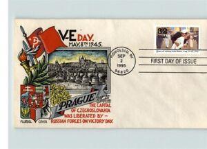 STAEHLE/ FLUEGEL World War II, V-E DAY Anniversary, PRAGUE, Czechoslovakia, FDC