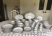 Bavaria -Waldershof Germany - Huge Dinnerware Set-  Classy & Elegant 86 Pieces