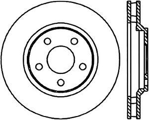 Disc Brake Rotor-Sedan Front Left Stoptech 127.62055L