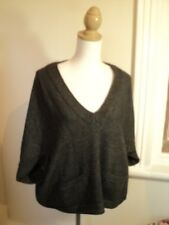 witchery dark grey jumper top oversized  M L  alpaca wool