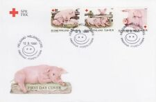 Piglets Pig Domestic Animals Finland Mint FDC 1998 Red Cross