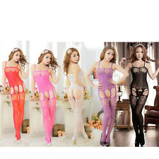 Women's Sexy Lingerie Bodystocking Basque Fishnet Open Bust Fun Plus+ size 14-22