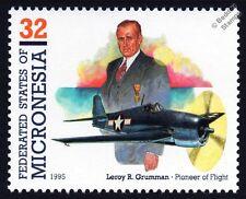 Leroy R.GRUMMAN F6F HELLCAT WWII Aircraft Stamp (1995 Micronesia)