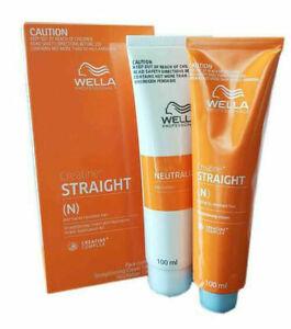 WELLA WELLASTRAIGHT Permanent Straight System Hair Straightening Cream 100+100ml