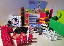 Duplo Legos Peppa Pig Pieces & Misc Blocks Bases Bricks Figures Inst & Chest