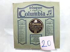 VINYLE 78T COLUMBIA-CHANSONS GALANTES DU 18ESIECLE