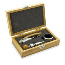 Wine Essentials Gift Set,  Wine Bottle Opener, Drip Collar and Bottle Stopper