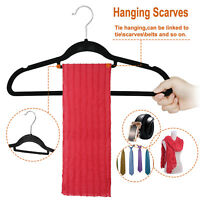 100pcs Commericial Home Galvanized Sturdy Flocked Clothes Hanger Bar Deal