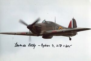 WW2 RAF Hawker Hurricane pilot in Far East signed photo - UACC DEALER