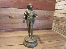 Vintage RARE Man Metal Figure Statue Sculpture - Great Display Piece!