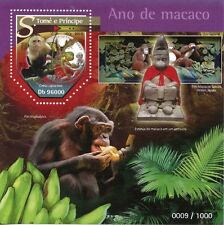 Sao Tome & Principe 2015 MNH Year of Monkey 2016 1v S/S Lunar New Year Stamps