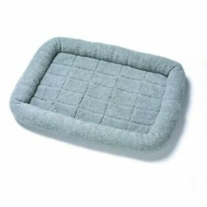 Soft Crate Bed Plush Mat For Kennel Puppy Dogs Pet Cage | Washable Warm Grey