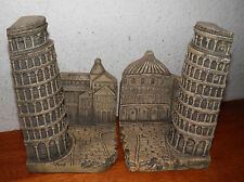 Pair of Leaning Tower Of Pisa Bookends, Excellent Mint Condition Price $20 Off