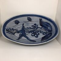 Blue Bird and Blue Flower Bowl Mexico