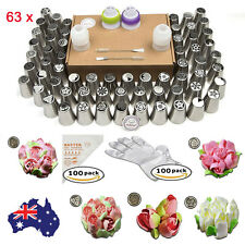 63 PCS Russian Icing Piping Nozzles Cake Decorating Pastry Tool Set Cupcake Tips