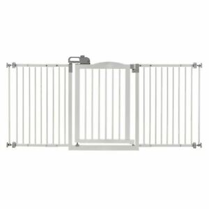 """Richell One-Touch Wide Pressure Mounted Pet Gate II White 32.1"""" - 62.8"""" x 2"""" x 3"""