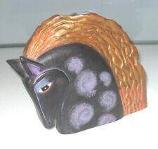 LAUREL BURCH UNITED DESIGN ART DECO CABELLO HORSE HEAD BUST SCULPTURE