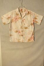 S4809 Aloha Friday Women's Large Cream Floral Button Up Blouse
